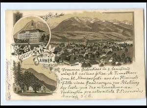 S1968/ Gruß aus Sarnen Litho AK 1898 Schweiz