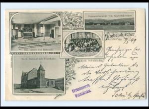 S2069/ Gruß aus Wiebelskirchen Kath. Beetsaal AK 1899