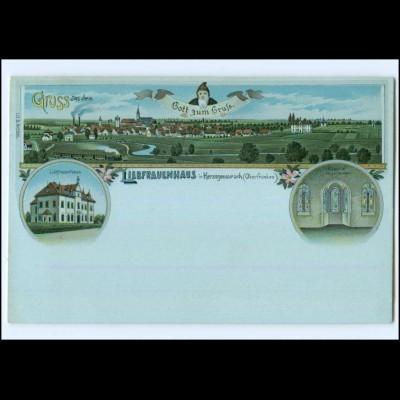 S2075/ Gruß aus dem Liebfrauenhaus in Herzogenaurach Litho AK ca.1898
