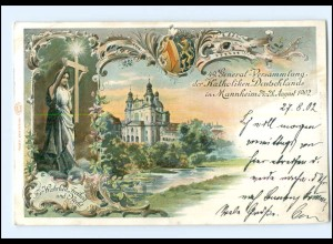 S2079/ Mannheim 49. General-Vers. der Katholiken AK 1902