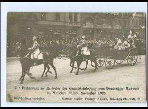 S2122/ München Feier der Grundsteinlegung Deutsches Museum 1906 Foto AK