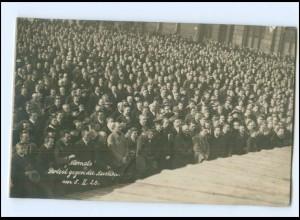 """S2133/ München Protest gegen die Auslieferung """"Niemals"""" 8.2.1920 Foto AK"""