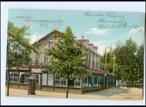 Y12640/ Hamburg Harburg Hotel zur Majestätischen Aussicht 1912 AK