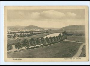 Y12791/ Saarbrücken Saarpartie am Staden 1918 AK