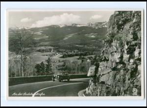 U6911/ Riesengebirge Sudetenstraße Foto AK ca.1938 Schlesien