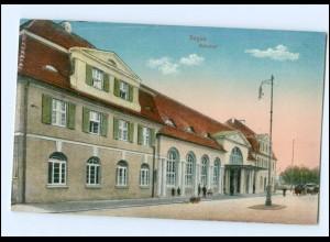 U6828/ Sagan Bahnhof AK 1916 Schlesien