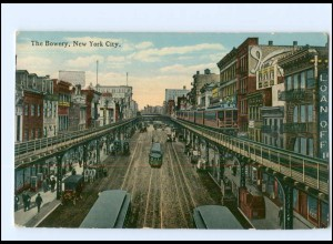 Y12655/ New York The Browery USA AK ca.1912