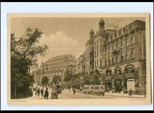 U6833-085/ Plauen Postpltz Straßenbahn AK 1925