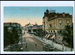 U6836-085/ Plauen Bahnhofstraße Straßenbahn AK ca.1910