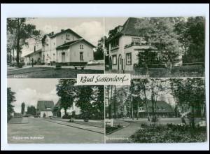 U6846-4772/ Bad Sassendorf Bahnhof, Sparkasse Ak 1965