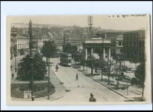 U6860/ Valparaiso Tram Straßenbahn 6. Ave. Brasil Foto AK Chile 1931