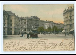 Y12687/ Wien Kärntnerring Straßenbahn AK 1905