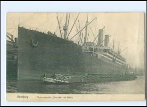 Y12697/ Dampfer Amerika in Hamburg Hafen AK 1920