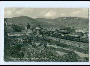 Y12785/ Kirn Schillerbrücke mit Bahnhof 1958 AK