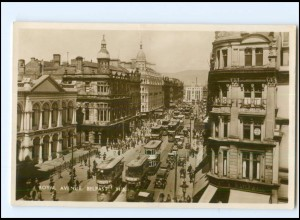 U6800/ Belfast Royal Avenue Tram Straßenbahn Foto AK ca.1925 Irland