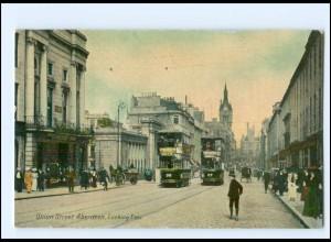 Y12652/ Aberdeen Union Street Tram Straßenbahn AK Schottland ca.1910