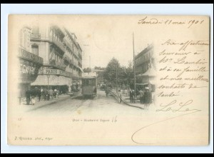 U6762/ Oran Boulevard Seguin Tramway Straßenbahn Algerien AK 1901