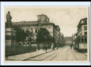 Y12782/ Mainz Gutenbergdenkmal Ludwigstraße Straßenbahn 1933 Foto AK