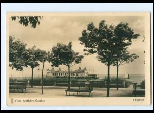 Y12802/ Ahlbeck Blick v.d. Anlagen am Strande auf die Brücke 1931 Foto AK
