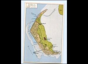Y12709/ Insel Amrum Landkarten AK Verlag: Simonsen ca.1930