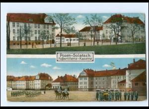 U7010/ Posen - Solatsch Fußartillerie-Kaserne AK 1917