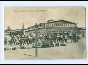 U8191/ Nutz-Viehhalle Lübeck , jetzt Kaserne AK 1915