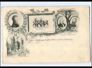 Y13075/ Schleswig Holstein Erhebung 50 jährige Gedenkfeier AK 1898