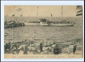 Y13057/ Ostseebad Arendsee Dampfer Fürst Blücher Ak 1924
