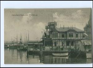 Y12978/ Flensburg Dampfschiffspavillon 1919 AK