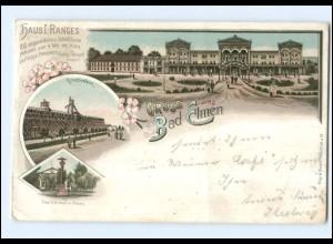 Y12929/ Gruß aus Bad Elmen 1897 Litho AK