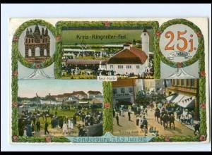 U6949/ Sonderburg Kries-Ringreiten-Fest 1912 Nordschleswig Dänemark AK
