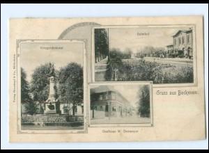 U8203-3205/ Bockenem Bahnhof, Gasthaus Dormeyer AK 1906