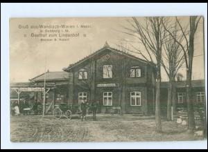 U6970-193/ Wendisch-Waren Gasthof zum Lindenhof AK 1910