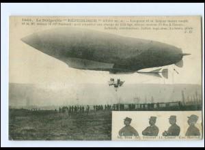 """U8200/ Le Dirigeable """"Republique"""" Luftschiff Zeppelin Frankreich Ak 1909"""
