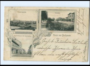U8194-3205/ Bockenem mit Bahnhof AK 1905