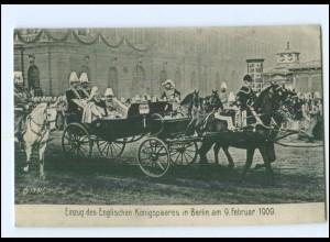 Y13054/ Einzug des engl. Königspaares in Berlin 1909 AK Kaiser Wilhelm