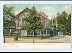 Y12904/ Hamburg Harburg Hotel zur Majestätischen Aussicht 1906 AK