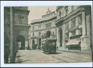 Y12996/ Italien Napoli Via San Carlo Straßenbahn AK