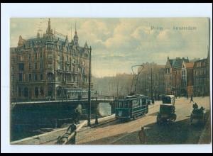 Y12995/ Niederlande Amsterdam Rokin Straßenbahn 1910 AK