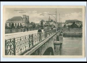 Y13066/ Diedenhofen Moselbrücke Straßenbahn AK 1915
