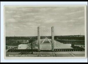 Y13067/ Berlin Olympiade Olympisches Tor mit Preußen u. Bayern-Turm AK 1936