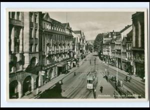 Y12941/ Pforzheim Leopoldplatz Straßenbahn 1941 Foto AK