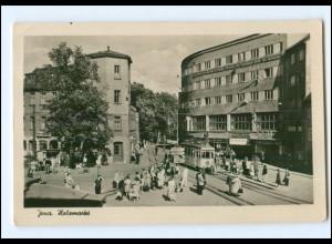 U7088-077/ Jena Holzmarkt Straßenbahn Foto AK 1955