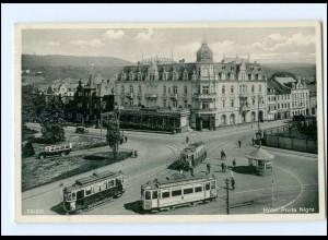 Y12949/ Trier Hotel Porta Nigra Straßenbahn 1933 AK