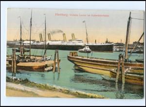 Y12902/ Hamburg Victoria Louise im Kuhwärderhafen 1913 AK