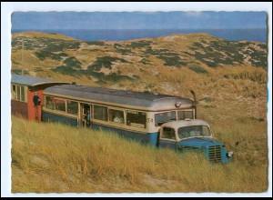 Y13015/ Sylt Inselbahn Schnelltriebwagen AK 1965