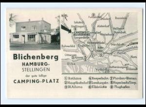 U8231/ Hamburg Stellingen Blichenberg Camping-Platz AK ca.1950