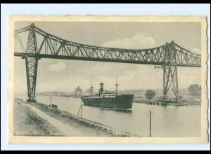 U7462/ Rendsburg Hochbrücke Dampfer AK ca.1940