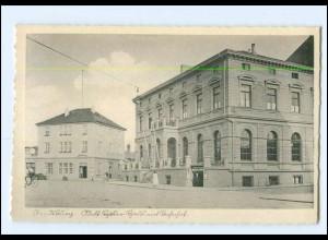 U7190/ Rendsburg Adolf-H-Haus mit Bahnhof AK ca.1938