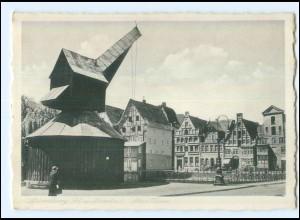 U7430/ Lüneburg Alter Kran AK ca.1940